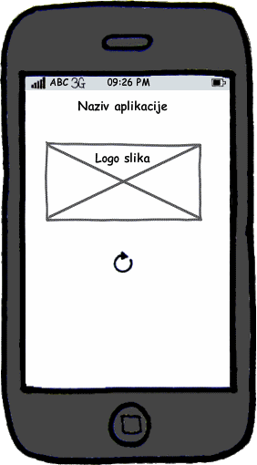 GeoCatalog, andorid aplikacija, Splash screen